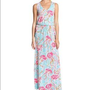 Lilly Pulitzer Mills Jellyfish Maxi Dress SizeXS